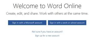 Login Word Online