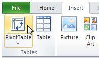 menu icon pivot table