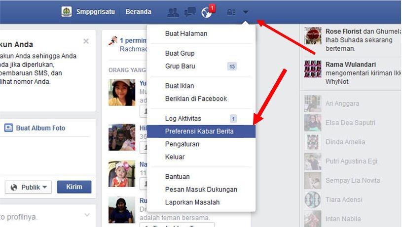 Preferensi Kabar Berita Facebook