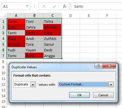 duplicate value window