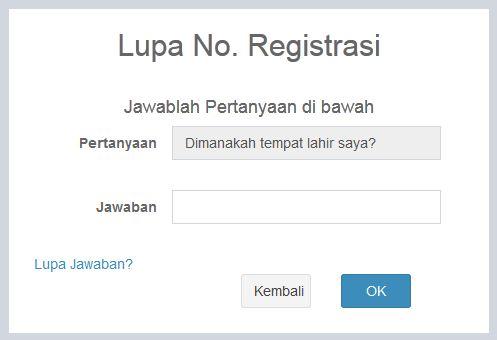 form pertanyaan keamanan lupa nomor registrasi pupns 2015