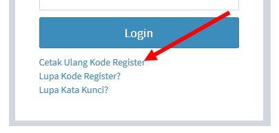 menu cetak ulang nomor registrasi pupns 2015