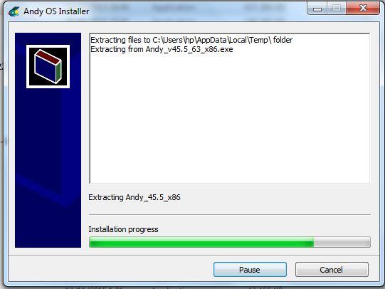 Andy OS installer 1