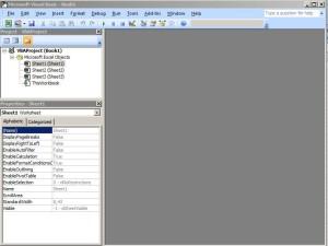 Microsoft Visual Basic Editor Excel