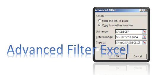 contoh advanced Filter pada excel 1
