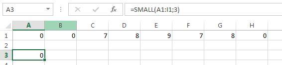 contoh fungsi small