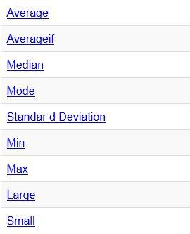 fungsi statistik excel