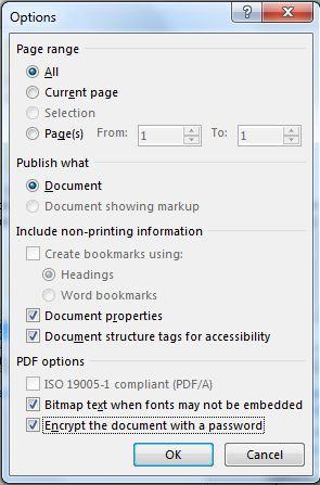 dialog option word to pdf 2013