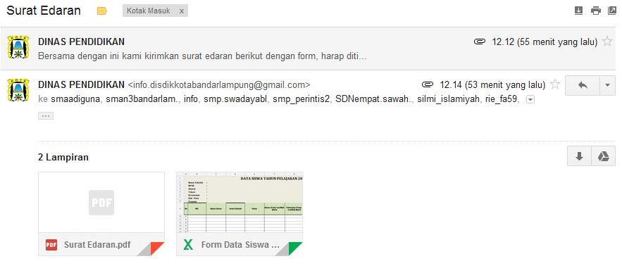 Contoh Email Penipu